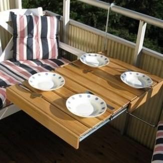 Genius mesa colgante extraíble para balcón la mesa flexible para balcón