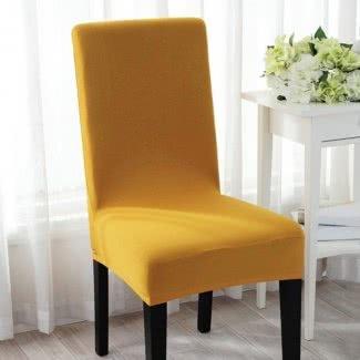 Sofisticada funda elástica para silla en una variedad de colores
