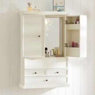 Mueble de pared para baño de cerezo