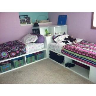 Estructura de cama doble de bricolaje