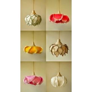 Lámparas colgantes de flores del artista de iluminación sachie muramatsu the lanterns