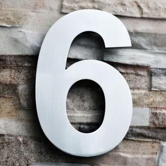 Número de casa de montaje flotante de acero inoxidable cepillado
