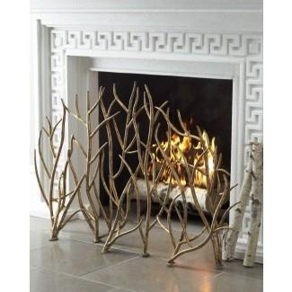 Pantallas decorativas de hierro forjado para chimenea 3