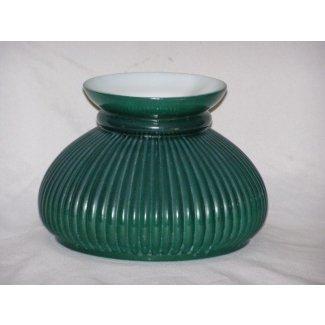 Pantalla de lámpara de vidrio vintage de color verde