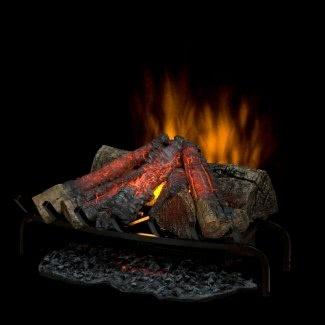 Dimplex DLG1058 Inserto para chimenea de hogar abierto con cama de leños de imitación, negro