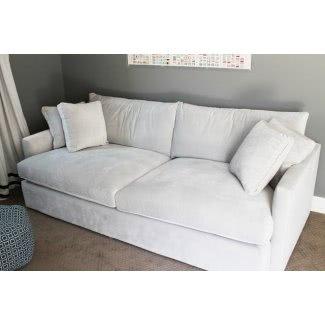 Sofá de asiento ancho