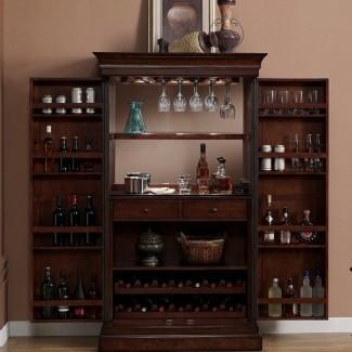 Mueble bar Angelina con almacenamiento de vino