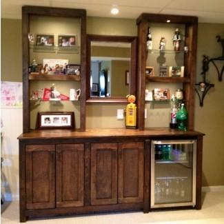 Mueble bar de pared