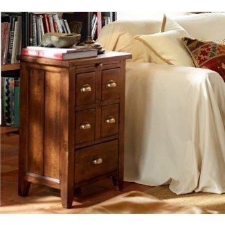 Mesa auxiliar de madera recuperada Camden castaño
