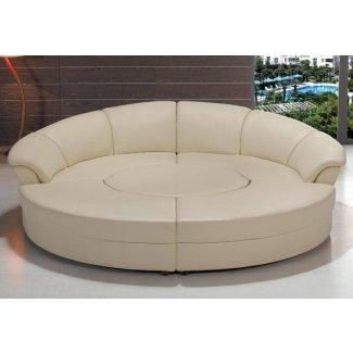 Moderno seccional circular en blanco o negro