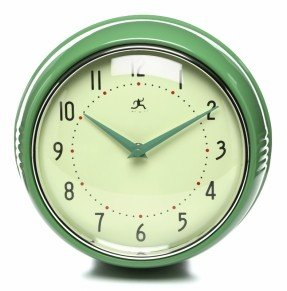 """Reloj de pared retro de 9.5 """""""