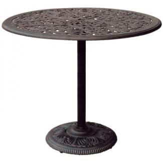Mesa de bar de bronce de hierro fundido antiguo