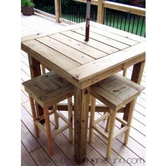 Mesa alta para patio