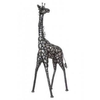 Hermosa estatua de jirafa de metal de 7 pies de altura para el hogar