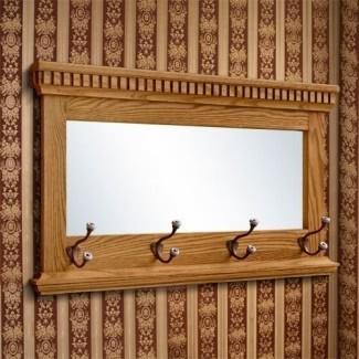 Espejo con percheros