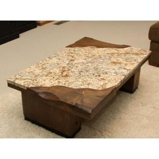 Mesa de centro con tapa de granito 4