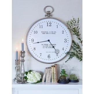 Reloj de pared de reloj de bolsillo