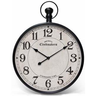 Reloj de pared con cronómetro gigante