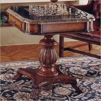 Mesa de comedor de ajedrez