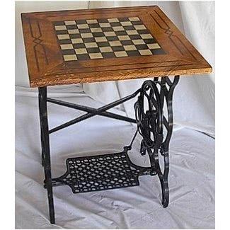 Mesa de tablero de ajedrez