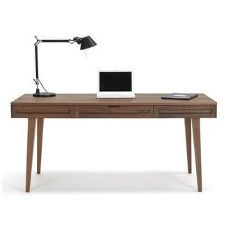 Escritorio de madera maciza de 64 pulgadas