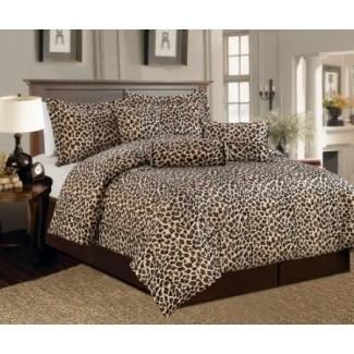 Ropa de cama con estampado de leopardo tamaño king 1
