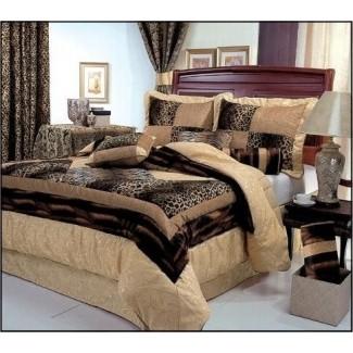 Ropa de cama con estampado de leopardo