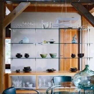 Estantes de vidrio para sala de estar