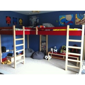 Cama alta doble camas para niños modernas louisville
