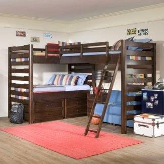 Unidad de esquina con dos camas individuales