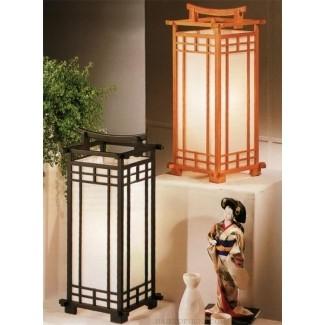 Lámpara de mesa con farol japonés