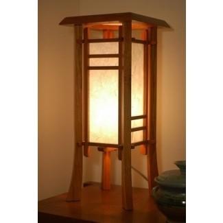 Lámpara de mesa con linterna japonesa 3