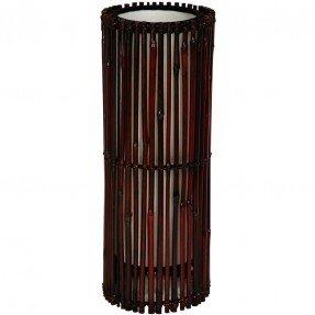 """Lámpara de mesa de bambú japonés Kobiyashi de 17,75 """"H con pantalla de tambor"""