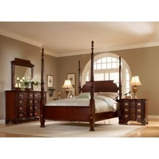Estructura de cama con dosel tamaño king 1