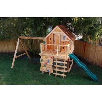 Casa de juegos de madera para niños 13