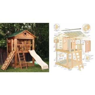 Casita de juegos de madera para niños 11