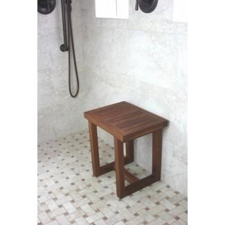 Bancos de ducha de teca 1