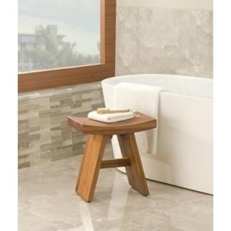 Muestra de piso Taburete de ducha de teca clásico Asia-de la colección Asia