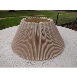 Lámpara Stiffel de lino plisado Vintage 18