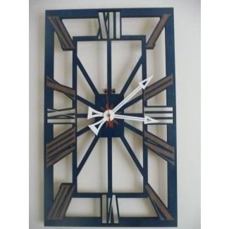 Reloj de pared vintage grande edición azul 2
