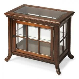 Cherry Solid Wood Chair Side Curio Cabinet