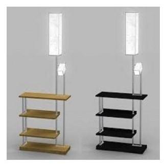 Lámpara de pie con estantes 7