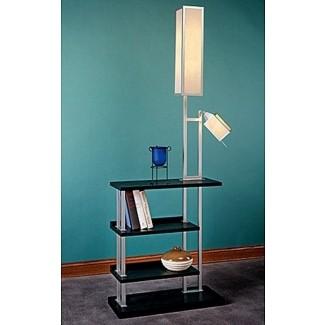 Lámparas iluminación lámpara de pie sobremesa con estantes lu 04