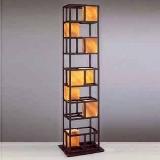 Lámpara de pie con estantes 3