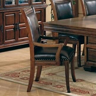 Coaster Home Furniture Butaca de transición, cereza / marrón, juego de 2