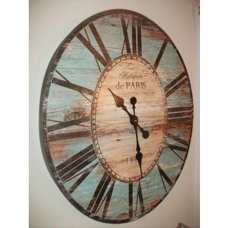 Reloj de pared grande y exclusivo Gran reproducción de madera de un