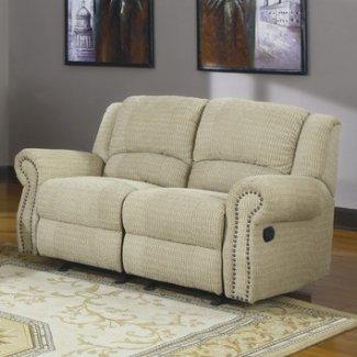 Woodbridge home designs sofá de dos plazas reclinable con mecedora doble quinn