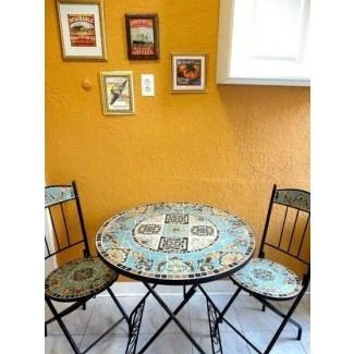 Juego de mesa bistró de mosaico 1