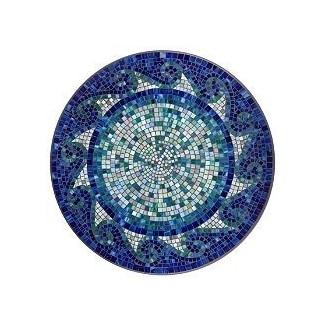 Mesa de comedor de mosaico