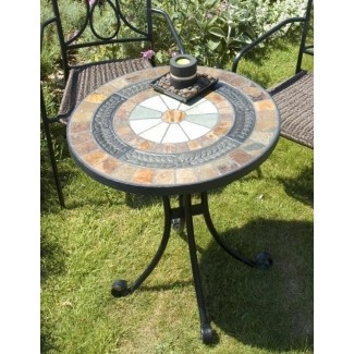 Mesa de bistró de mosaico